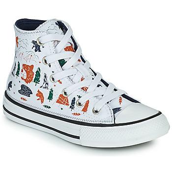 Cipők Fiú Magas szárú edzőcipők Converse CHUCK TAYLOR ALL STAR EXPLORER HI Fehér / Sokszínű