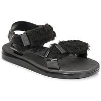 Cipők Női Szandálok / Saruk Melissa MELISSA PAPETTE FLUFFY RIDER AD Fekete