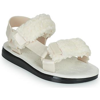 Cipők Női Szandálok / Saruk Melissa MELISSA PAPETTE FLUFFY RIDER AD Bézs / Fekete
