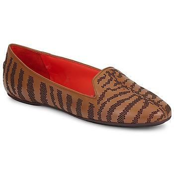 Cipők Női Mokkaszínek Roberto Cavalli TPS648 Barna