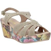 Cipők Női Szandálok / Saruk Melluso H037040 Bézs