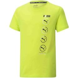 Ruhák Gyerek Rövid ujjú pólók Puma 585855 Sárga