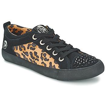 Cipők Női Rövid szárú edzőcipők Diesel LEOPAR Fekete