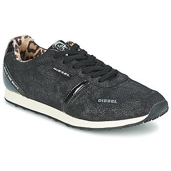Cipők Női Rövid szárú edzőcipők Diesel METAL Fekete