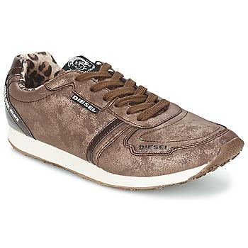 Cipők Női Rövid szárú edzőcipők Diesel METAL Barna