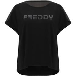 Ruhák Női Rövid ujjú pólók Freddy S1WTBT3 Fekete