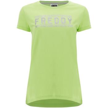 Ruhák Női Rövid ujjú pólók Freddy S1WCLT2 Zöld