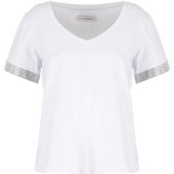 Ruhák Női Rövid ujjú pólók Café Noir JT6490 Fehér
