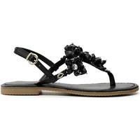 Cipők Női Lábujjközös papucsok Café Noir GF1820 Fekete