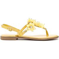 Cipők Női Lábujjközös papucsok Café Noir GF1820 Sárga