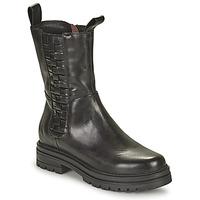 Cipők Női Csizmák Mjus DOBLE SQUARE Fekete