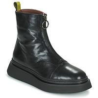 Cipők Női Csizmák Mjus BASE ZIP Fekete
