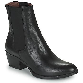 Cipők Női Bokacsizmák Mjus DALLAS Fekete