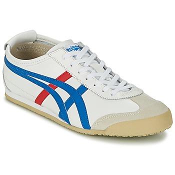 Cipők Rövid szárú edzőcipők Onitsuka Tiger MEXICO 66 Fehér / Kék / Piros