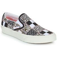 Cipők Belebújós cipők Vans SLIP ON Fekete  / Fehér / Rózsaszín