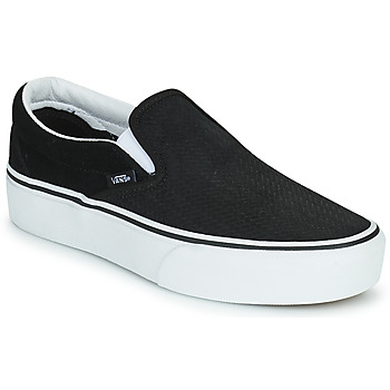 Cipők Női Belebújós cipők Vans CLASSIC SLIP-ON PLATFORM Fekete  / Fehér