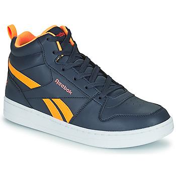 Cipők Gyerek Magas szárú edzőcipők Reebok Classic REEBOK ROYAL PRIME Tengerész / Narancssárga