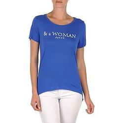 Ruhák Női Rövid ujjú pólók School Rag TEMMY WOMAN Kék