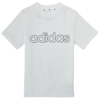 Ruhák Fiú Rövid ujjú pólók adidas Performance ALBA Fehér