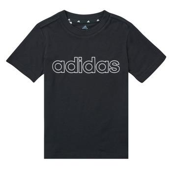 Ruhák Fiú Rövid ujjú pólók adidas Performance SAMINA Fekete