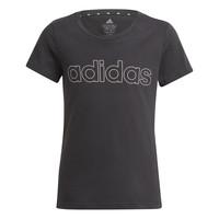 Ruhák Lány Rövid ujjú pólók adidas Performance PLAKAT Fekete