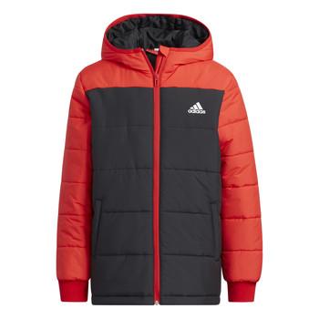 Ruhák Gyerek Steppelt kabátok adidas Performance RACHELA Piros / Fekete
