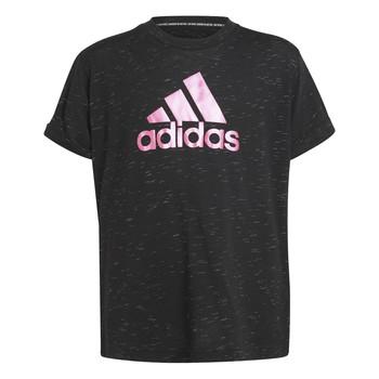 Ruhák Lány Rövid ujjú pólók adidas Performance MONICA Fekete