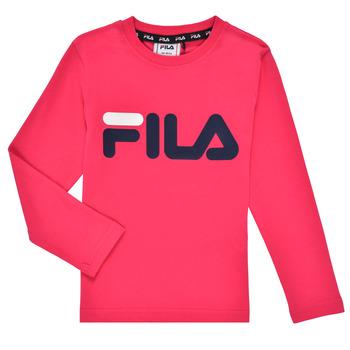 Ruhák Lány Hosszú ujjú pólók Fila ESPIN Rózsaszín