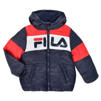 Ruhák Gyerek Steppelt kabátok Fila DERIENA Piros / Tengerész