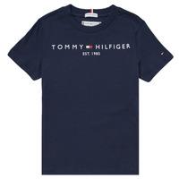 Ruhák Fiú Rövid ujjú pólók Tommy Hilfiger SELINERA Tengerész