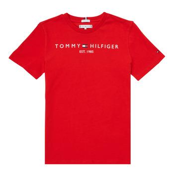 Ruhák Fiú Rövid ujjú pólók Tommy Hilfiger SELINERA Piros
