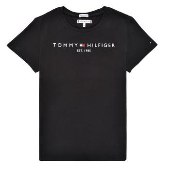 Ruhák Lány Rövid ujjú pólók Tommy Hilfiger QUANFI Fekete