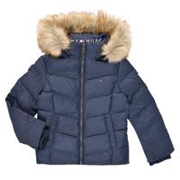 Ruhák Lány Steppelt kabátok Tommy Hilfiger RESTRI Tengerész
