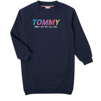 Ruhák Lány Rövid ruhák Tommy Hilfiger BELISTA Tengerész