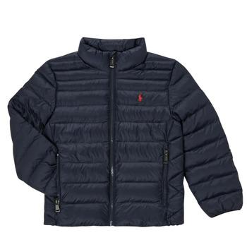 Ruhák Lány Steppelt kabátok Polo Ralph Lauren PERTUN Tengerész
