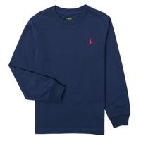 Ruhák Fiú Hosszú ujjú pólók Polo Ralph Lauren KEMILO Tengerész