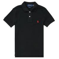 Ruhák Fiú Rövid ujjú galléros pólók Polo Ralph Lauren HOULIA Fekete