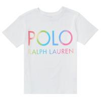 Ruhák Fiú Rövid ujjú pólók Polo Ralph Lauren FERILO Fehér