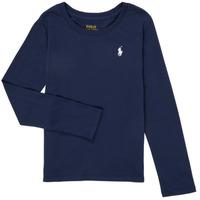 Ruhák Lány Hosszú ujjú pólók Polo Ralph Lauren TENINA Tengerész