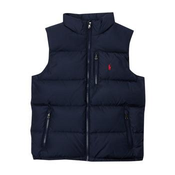 Ruhák Fiú Steppelt kabátok Polo Ralph Lauren SOLEDDA Tengerész