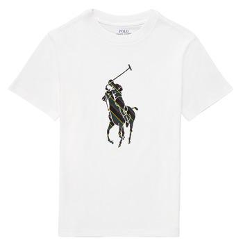 Ruhák Fiú Rövid ujjú pólók Polo Ralph Lauren GUILIA Fehér