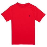 Ruhák Fiú Rövid ujjú pólók Polo Ralph Lauren FOLLIA Piros