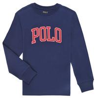 Ruhák Fiú Hosszú ujjú pólók Polo Ralph Lauren METIKA Tengerész