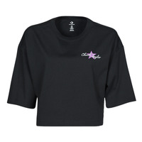 Ruhák Női Rövid ujjú pólók Converse CHUCK INSPIRED HYBRID FLOWER OVERSIZED CROPPED TEE Fekete