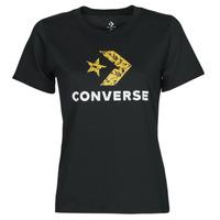 Ruhák Női Rövid ujjú pólók Converse STAR CHEVRON HYBRID FLOWER INFILL CLASSIC TEE Fekete