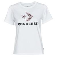 Ruhák Női Rövid ujjú pólók Converse STAR CHEVRON HYBRID FLOWER INFILL CLASSIC TEE Fehér