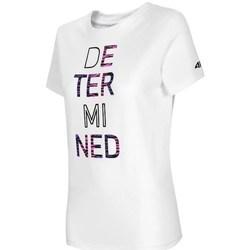 Ruhák Női Rövid ujjú pólók 4F TSD018 Fehér
