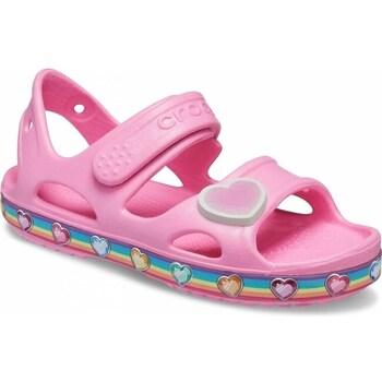 Cipők Gyerek Szandálok / Saruk Crocs Fun Lab Rainbow Sandal Kids Rózsaszín