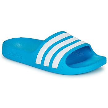 Cipők Gyerek strandpapucsok adidas Performance ADILETTE AQUA K Kék / Fehér