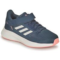Cipők Lány Futócipők adidas Performance RUNFALCON 2.0 C Tengerész / Rózsaszín